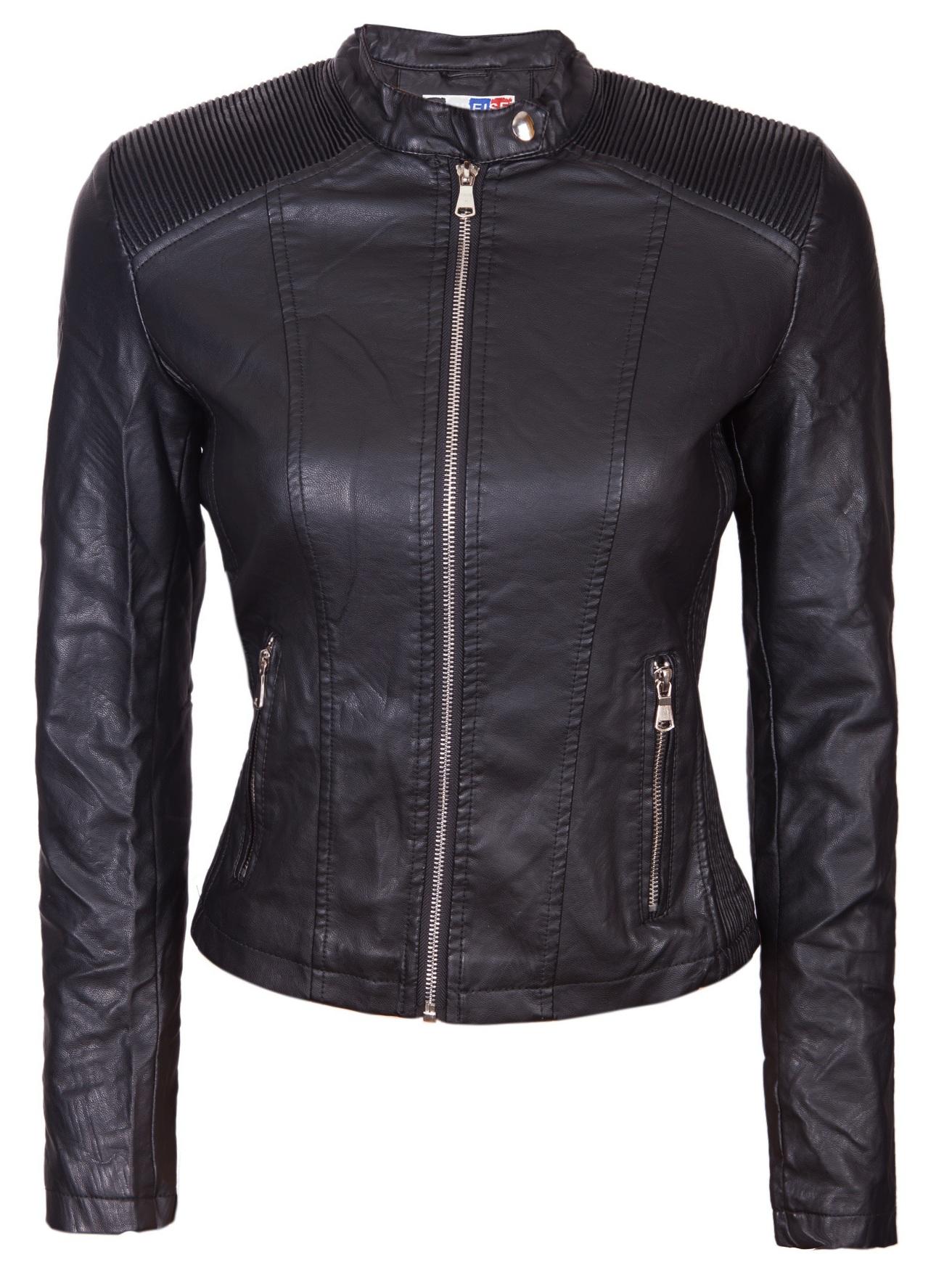 37abf3a55b4 Дамско кожено яке - P4003 - Ephorial.com | Онлайн магазин за мъжки и ...