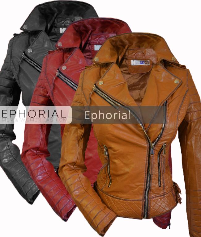 82cbdfe62b3 Дамско кожено яке - P1038 - Ephorial.com | Онлайн магазин за мъжки и ...