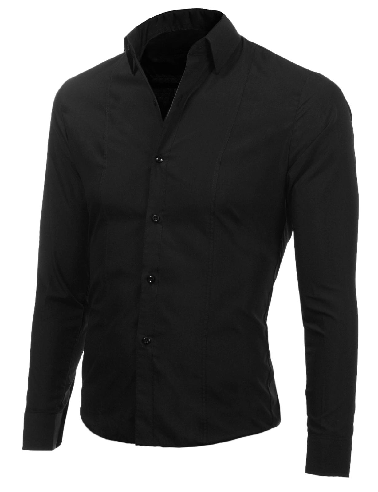 87217ca66b5 Изчистена мъжка черна риза