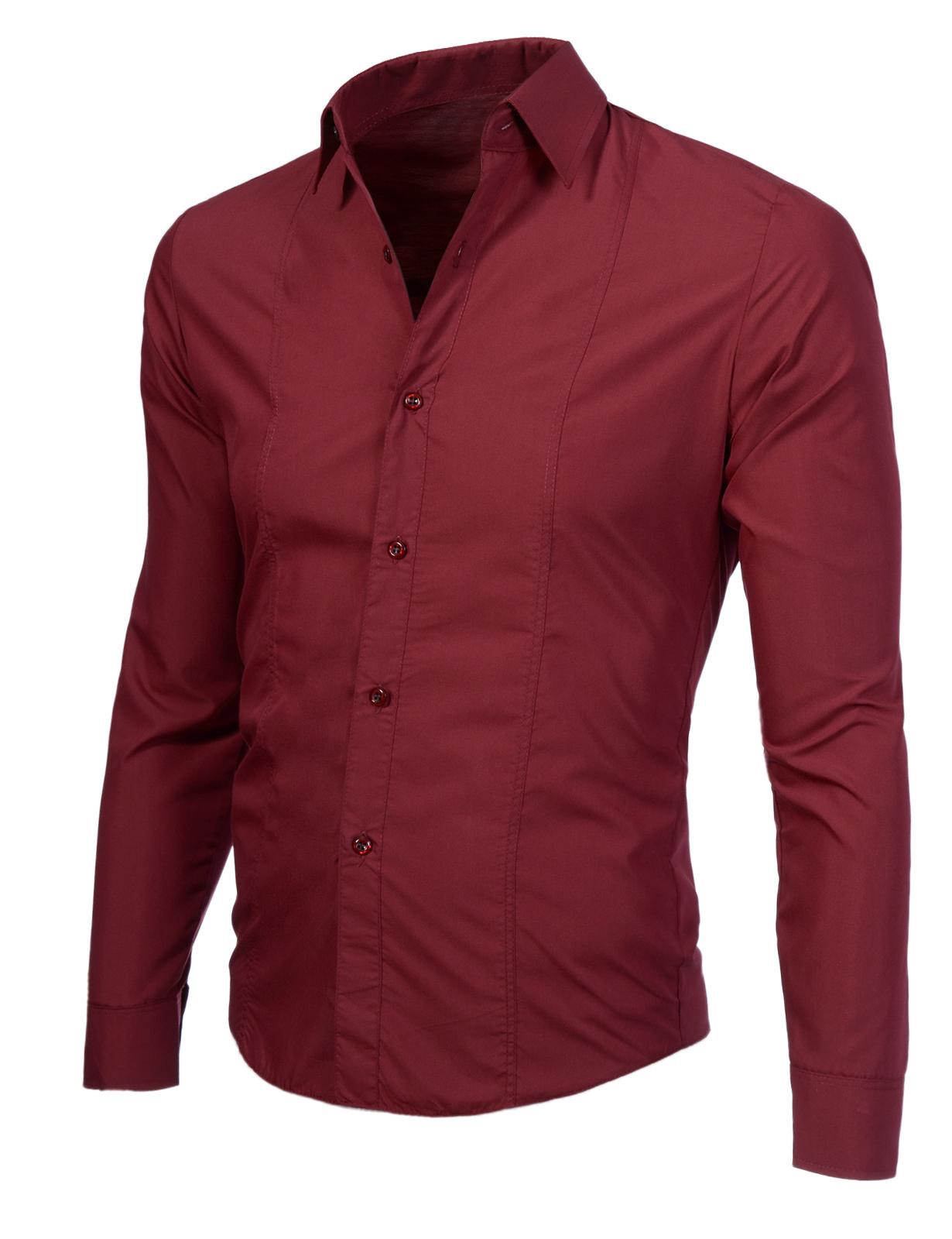 ddf055aa4f9 Изчистена мъжка риза бордо