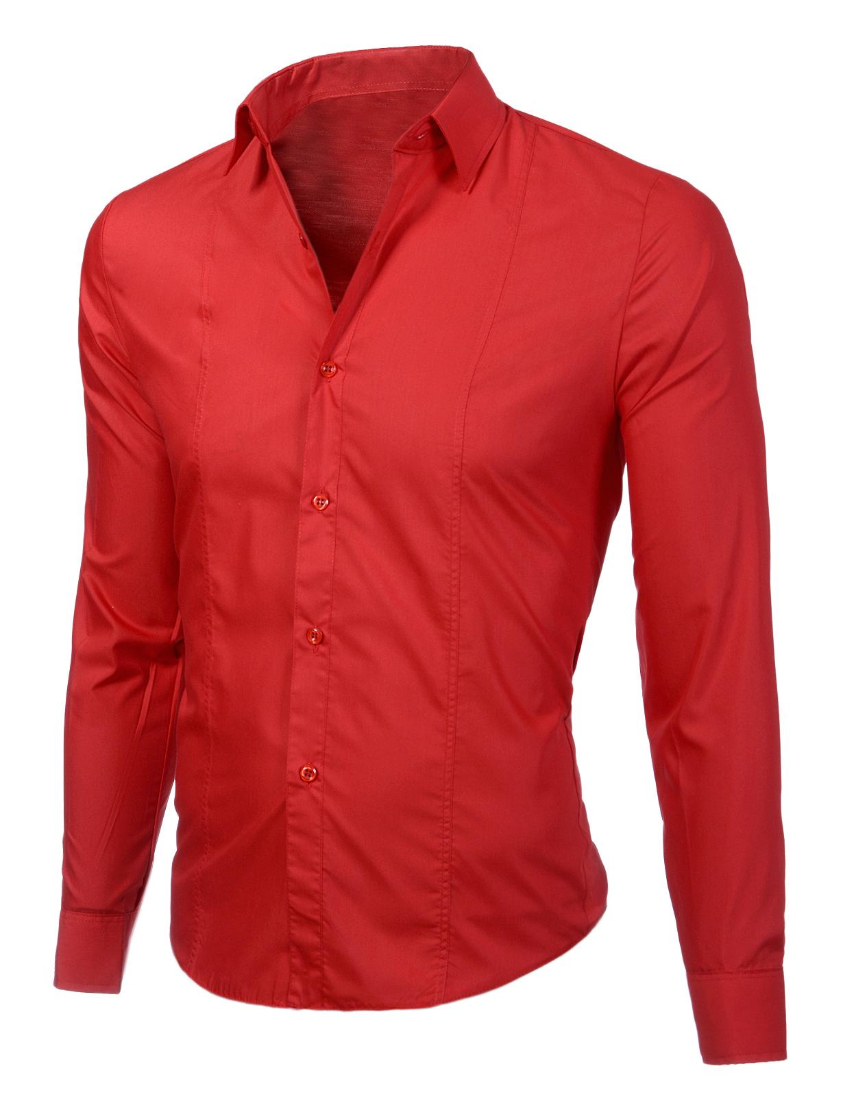 f0bfb86be0a Изчистена мъжка червена риза